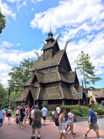 Little warmer than the last Stave church we saw in Norway.